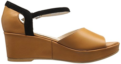 Women Black Sandal Wedge Tan Fidji V640 8qpOwddn
