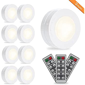 Solled Led Puck Lights Kitchen Under Cabinet Lighting With Remote Control Battery Powered