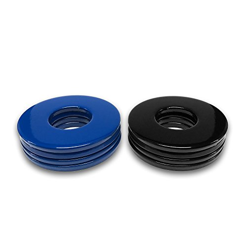 4 Blue/4 Black Powder Coated Replacement 2-1/2 Washer Toss Pitching Game Washers - High Gloss! by Washer Toss Pros