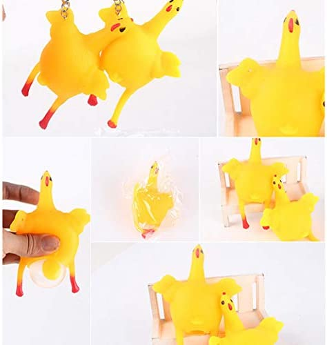JFHGNJ Toy Ventilation Hens Eggs Stress Keyring Ball Gadgets Stress Relief Toys Dog Toys-Yellow_M_2