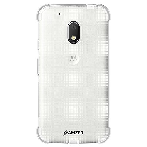 AMZER Pudding TPU X Protection Case for MOTOROLA Moto G4 Play XT1607/XT1609 - Retail Packaging - Clear