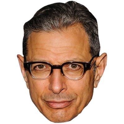 Jeff Goldblum Celebrity Mask, Card Face and Fancy Dress Mask -
