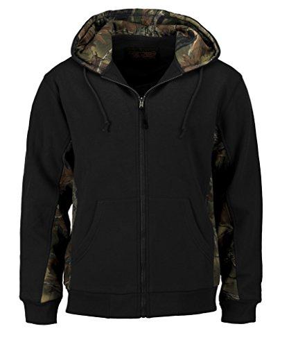 TrailCrest Trail Crest Men's Camo Zip Full Zip Up Hooded Sweatshirt Hunting...