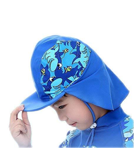Amazon.com  UPF 50+ Sun Hat Baby Boys  Flap Sun Protection Swim Pool ... af2b07769e7