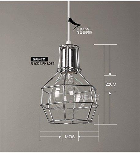 Silver Cage Pendant Light - 6