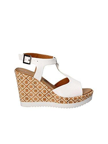 Sandali bianchi Shoes da donna con 52246 Grace zeppa q4T0EEw