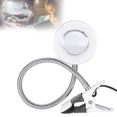 Eyelash Extension Lamp, USB Tattoo Beauty Desk Lamp with Cold Warm Light and Clip of Eyebrow Tattoo Manicure and Reading