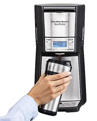 Hamilton Beach (48465) Coffee Maker with 12 Cup Capacity & Internal Storage Coffee Pot