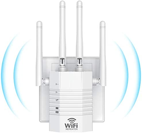 WiFi Range Extender Booster Repeater for The Houes, 1200Mbps (2500FT) WiFi 2.4 & 5GHz Dual Band WPS Wireless Signal Strong Penetrability, Wide Range of Signals, Enjoy Gaming Movies