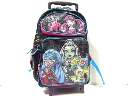 We Are Monster High Fashion Black Large Roller School Backpack