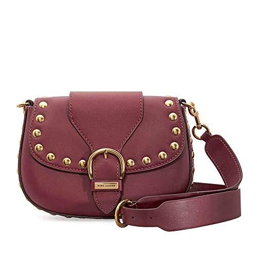 (Marc Jacobs Women's Studded Navigator Cabernet Handbag)