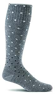 Sockwell Women's on The Spot Socks, Charcoal, Medium/Large