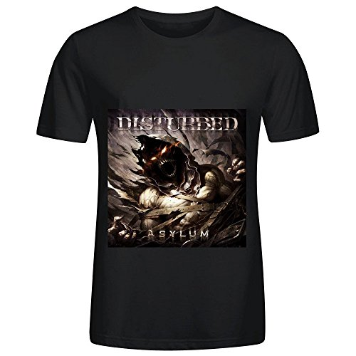 Disturbed Asylum Tour Jazz Mens O Neck Printed Tee Shirts Black (Medieval Dres)