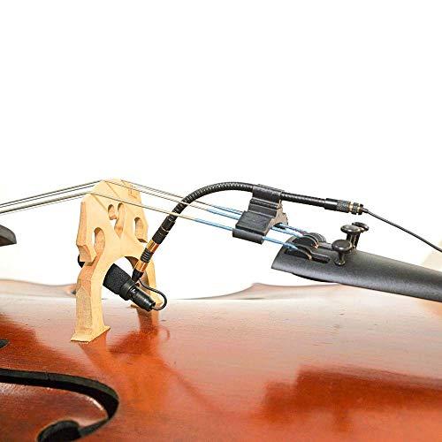 AV-JEFES PMM19B-TA3-CEL Cello Clip-On Musical Instrument Microphone for AKG Wireless Microphone and Phantom Power Input from AV-JEFES