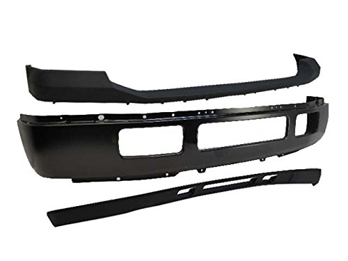 F250 F350 Front Bumper Blk Face Bar Upper Pad Txt Lower Valance 3pcs ()