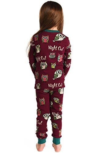 Lazy One Chicos Night Owl Niã±o Pijama Set Manga Larga: Amazon.es: Ropa y accesorios
