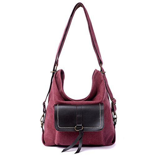 Sucastle sacchetto di modo Retro borsa casual tracolla messenger bag borsa di tela Sucastle Colore: colore Viola Dimensione: 38x30x15cm