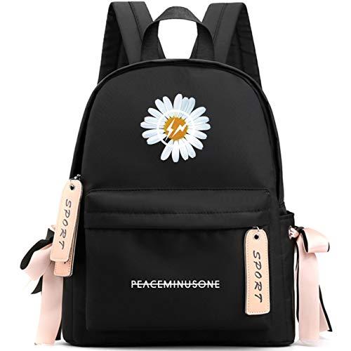 KPOP G-Dragon GD PEACEMINUSONE LOGO Daisy Flower Girls School Bag Students Backpack …