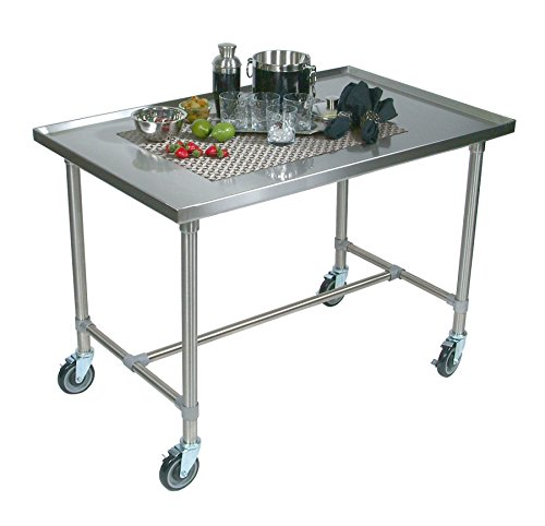 Table Stainless Steel Solid Top (Cucina Americana Mariner Prep Table with Stainless Steel Top Casters: No Casters, Size: 40