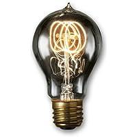 Bulbrite NOS40-VICTOR/SMK 40-Watt Nostalgic Edison A19 Bulb, Vintage Quad Loop Filament, Medium Base, Smoke