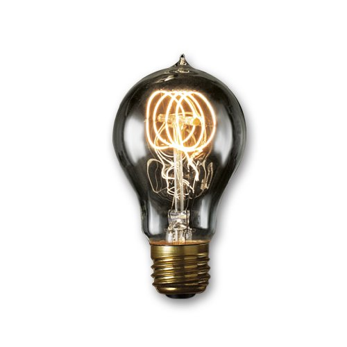 Bulbrite NOS60-VICTOR/SMK 60-Watt Nostalgic Edison A19 Bulb, Vintage Quad Loop Filament, Medium Base, Smoke - 120 Volt A19 Standard Base