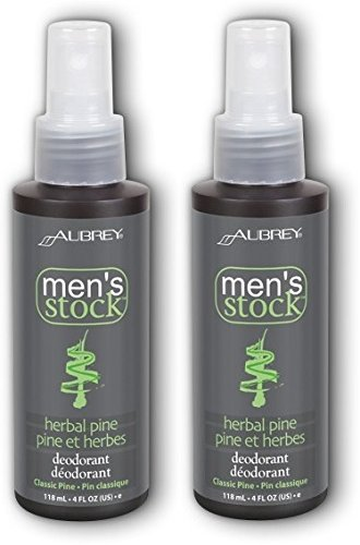 Price comparison product image Aubrey Organics Men's Stock Deodorant - Herbal Pine Scent - 4oz (Pack of 2)