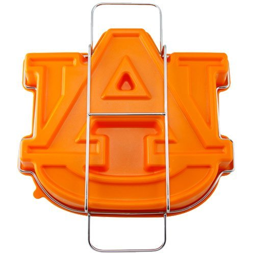 (NCAA Auburn Tigers Cake Pan with Stand, One Size, Orange)