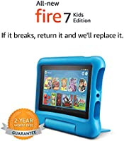 "All-New Fire 7 Kids Edition Tablet, 7"" Display, 16 GB, Kid-Proof Case"