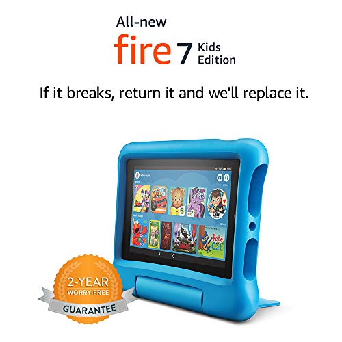 Fire 7 Kids Edition Tablet 7 Display 16 GB Blue KidProof Case
