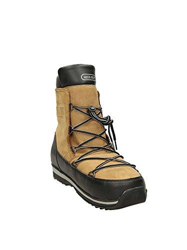Moon Boot Damen Lem Leather WP Schneestiefel Marrone (Marrone/Nero)