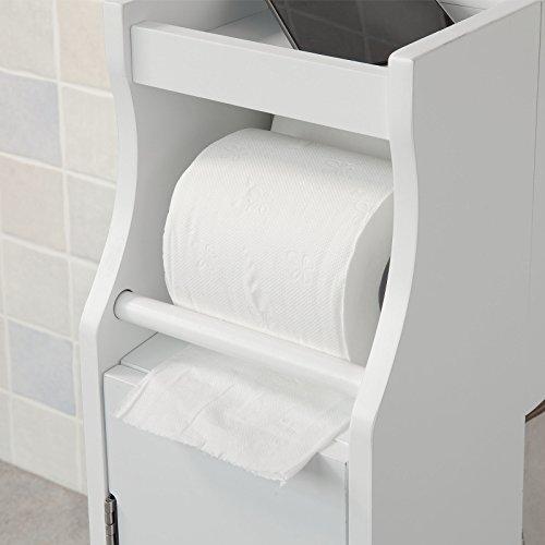 Sobuy Frg52 W Meuble De Rangement Armoire Wc Pour Papier Toilette