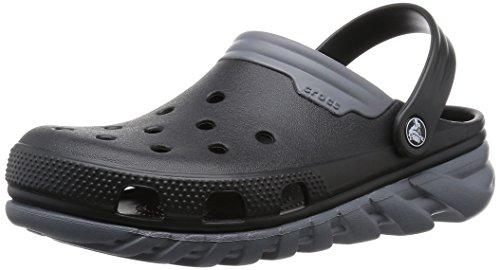 Crocs Duet Sport max - Zuecos de sintético para hombre Nero (Black/Charcoal)