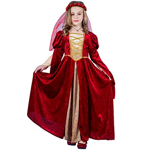 PGOND Girl's Renaissance Halloween Fancy Dress Costume (10-12)