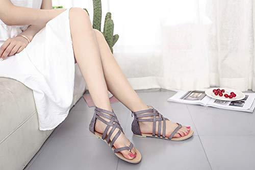 Plage Sandales Gladiator De Eté Tongs Romain Chaussures Femme PqzXPB