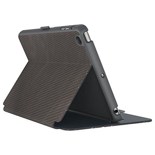(Speck Products StyleFolio Luxe Case and Stand for iPad Mini 4, Textured Metallic Perf Bronze/Slate Grey/Charcoal (73958-5074))