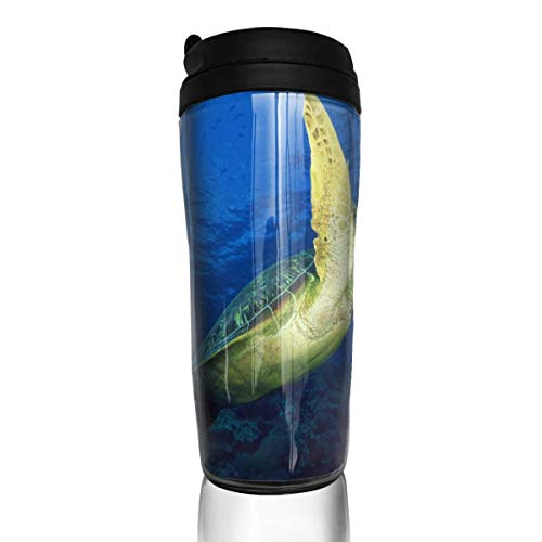 Coffee Cup Turtles Images Travel Tumbler Insulated Leak Proof Drink Containers Holder Customized 12 Ounces
