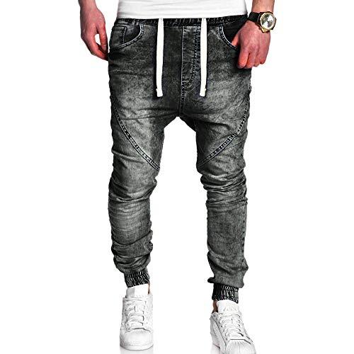 Negro Jeans la Pantalones Vaqueros los los Ocasionales Vendimia de elásticos Delgados lavan de Ocasionales de Vaqueros LILICAT Hombres los Upd11q
