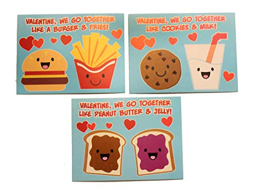 24 We Go Together Adorable Valentine's Day Cards for Kids - Cute Valentine for Classroom Exchange - Twins - 2 Dozen Bulk (Boxed Butter Cookies)