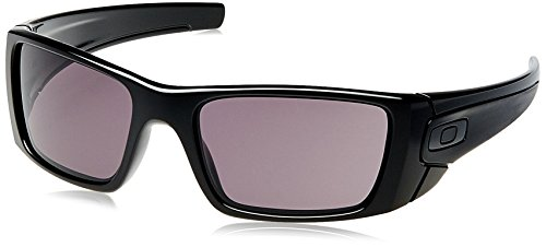 Oakley Fuel Cell Rectangular Sunglasses,Polished Black Frame/Warm Grey Lens,one - Oakley Clearance Sunglasses