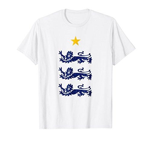 England 2018 Three Heraldic Lions Soccer T-Shirt