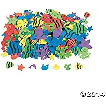 500 Under the Sea Foam Self-Adhesive Shapes/Peel Off Stickers/SCRAPBOOKING SUPPLIES/Dolphin/Octopus/Whale/Fish Shapes