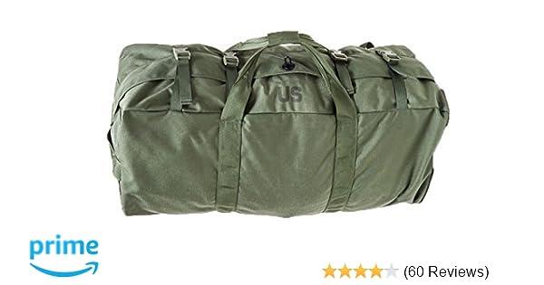 83b4e25ee Amazon.com: USGI Improved Sport Duffel Bag Slightly Irregular NSN#  8465-01-604-6541: Sports & Outdoors