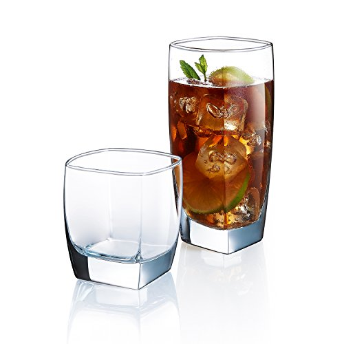Luminarc Clear Glass (Luminarc 16 Piece ARC International Sontac Tumbler Set, Clear)