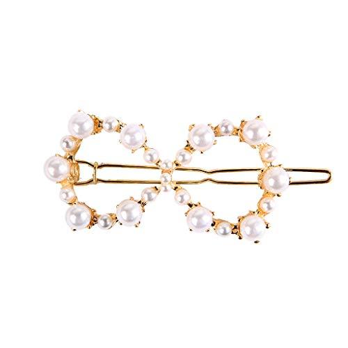 Womens Hair Clip Pearl Hairpin,Hair Decorative Fashion Artificial Hair Barrettes Sweet Accessories,Heart,Star,Circle,Triangle (G)