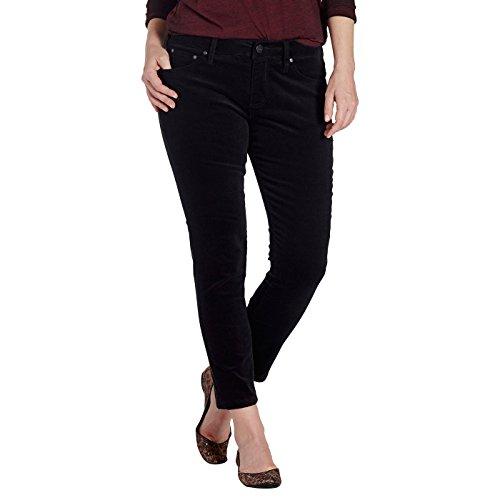 Jag Jeans Women's Mera Skinny Ankle Pant, Black Corduroy, - Stretch Jean Corduroy