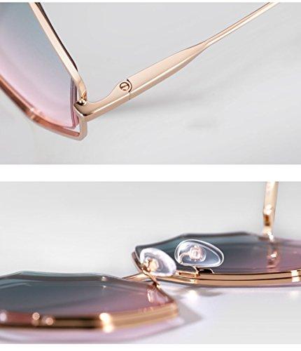 Lens Drive Lunettes Lunettes Mesdames de Soleil Lunettes personnalité D D verres Couleur des de X666 Soleil Creuse Bright Cadre wRqCOnB7x