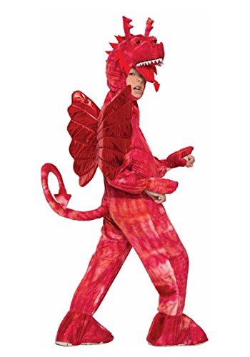 Forum Novelties Kids Red Dragon Costume, Red, Large (Red Dinosaur Costume)