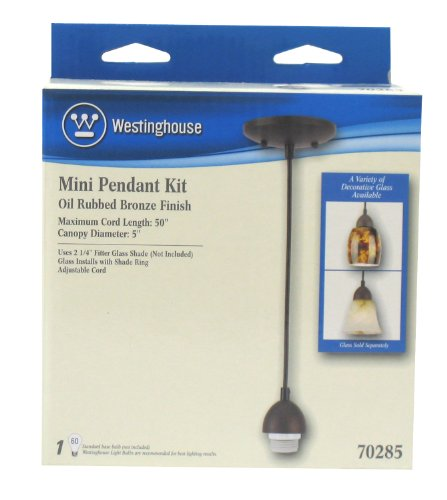 030721702853 - Westinghouse Lighting 7028500 Single-Light Mini-Pendant Kit with Oil-Rubbed Bronze Finish carousel main 3