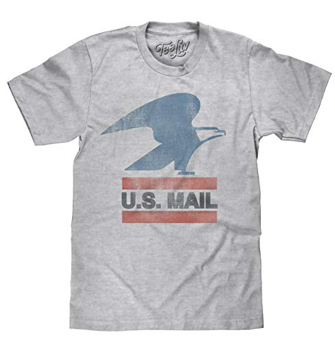 U.S. Mail Eagle Logo | Soft Touch Tee-Large  Heather Grey