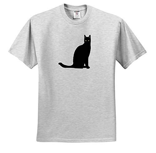 Taiche - Vector - Black Cat - Feline Fun Black Cat Vector - T-Shirts - Toddler Birch-Gray-T-Shirt (4T) (ts_299346_33) ()